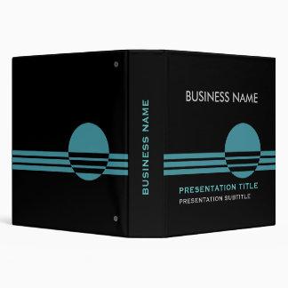 Business Presentation Binders black turquoise