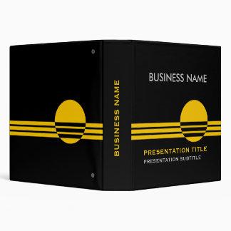Business Presentation Binders black yellow