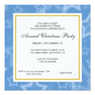 Business Professional Christmas Party 5.25x5.25 Square Paper Invitation Card
