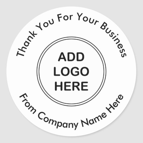 Business Professional Logo Thank you Stickers