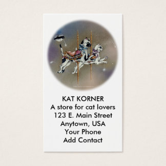 Business - Profile Card, Carousel Cats Business Card