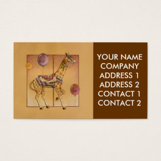 Business - Profile Card, - Carousel Giraffe Business Card