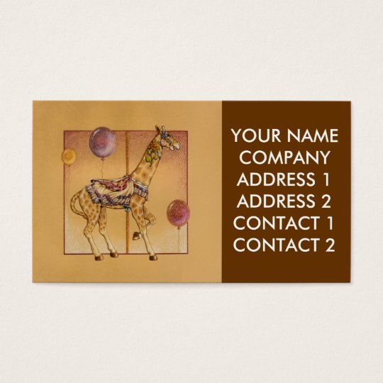 Business - Profile Card, - Carousel Giraffe Business Card