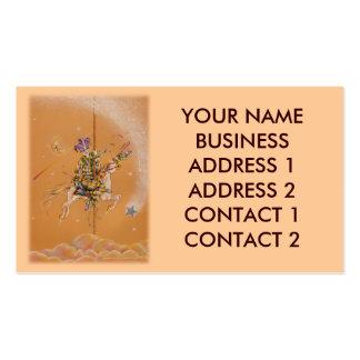 Business Profile Card, Carousel Jester Business Card Template