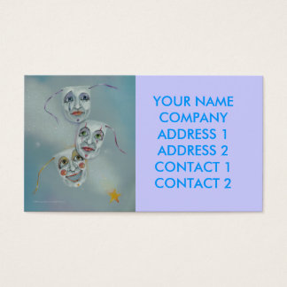 Business - Profile Card - Comedy Tragedy Masks