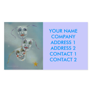 Business - Profile Card - Comedy Tragedy Masks Business Card