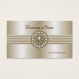 Business Profile Card Elegant Pearl Gem 2
