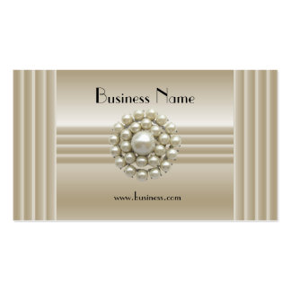 Business Profile Card Elegant Pearl Gem Deco Double-Sided Standard Business Cards (Pack Of 100)