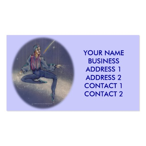Business-Profile Cards - Cosmic Mime Clown Business Card Template