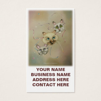 Business - Profile Cards - Siamese Cats