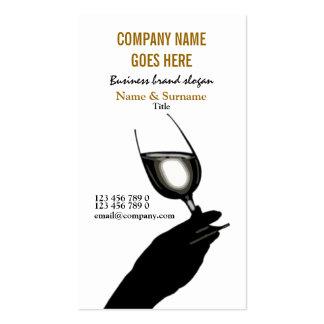 Business profile winemaker sommelier wine business card