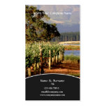 Business profile Winery vineyard grape Double-Sided Standard Business Cards (Pack Of 100)