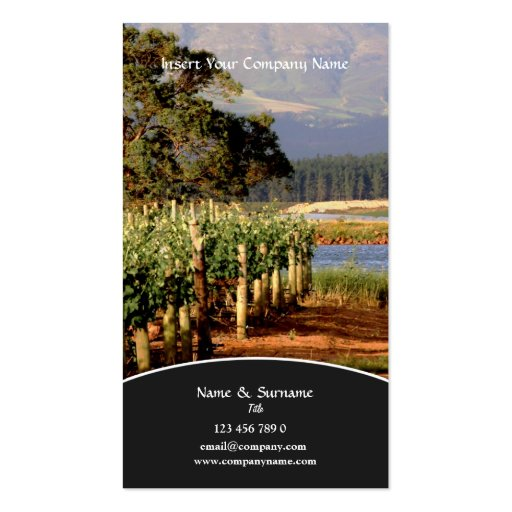 Business profile Winery vineyard grape Business Cards