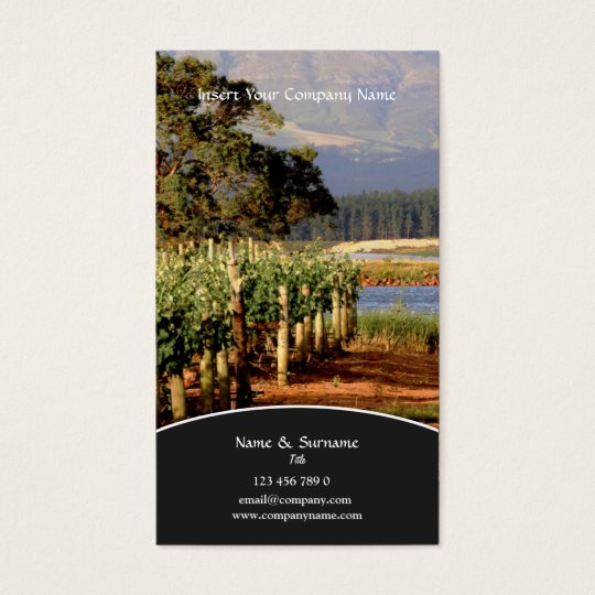 Business profile Winery vineyard grape Business Card