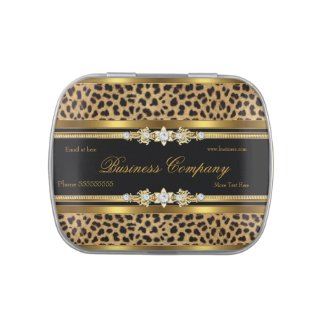 Business Promotion Give out Leopard Gold Black