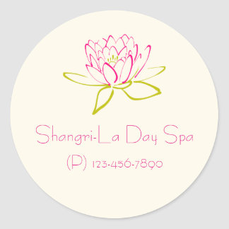 Business Promotion -  Lotus Flower / Water Lily Classic Round Sticker