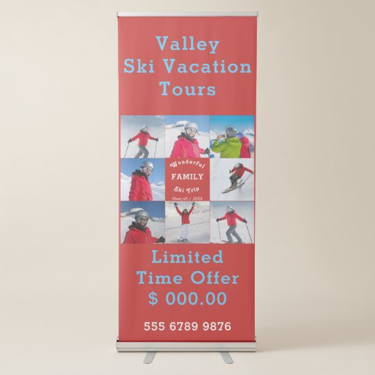 Business Promotion Template Create Your Own Retractable Banner - Retractable banner template