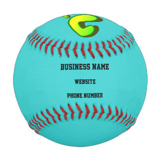 Business Promotional Big Lime Green Footprint Baseball