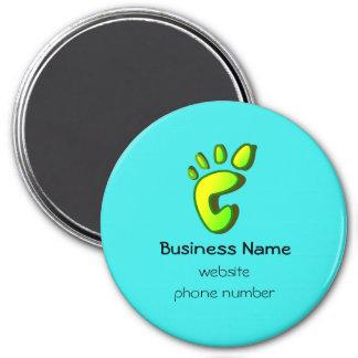 Business Promotional Big Lime Green Footprint Magnet