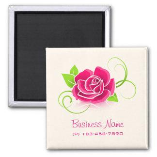 Business Promotional Pink Rose Flower Magnet