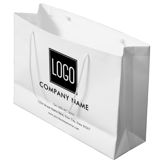 Business Promotional Your Logo Large Gift Bag