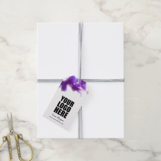 Business Purple Orchid Floral Gift Tags