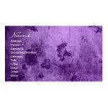 Business Purple Vintage Floral Texture Business Card