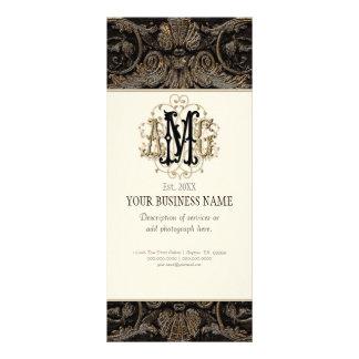 Business Rate Card - Elegant Antiqued Gold Baroque