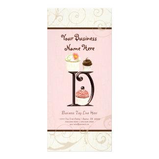 Business Rate Card - Letter D Monogram Dessert Bak Custom Rack Cards