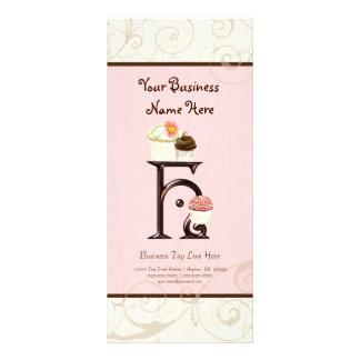 Business Rate Card - Letter H Monogram Dessert Bak