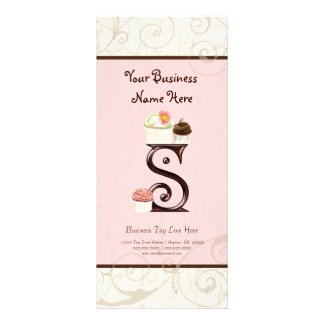 Business Rate Card - Letter S Monogram Dessert Bak
