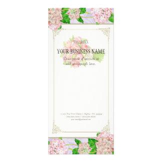 Business Rate Card - Rose Hydrangea Florist Floral Rack Card