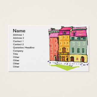 Business Real Estate House Condo City Destiny Fun Business Card