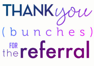 Referral Thank You Cards Zazzle
