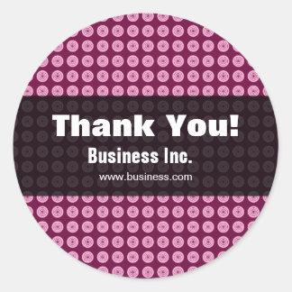 Business Retro Circles Modern Pink Stickers