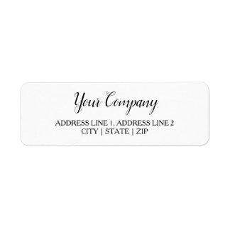 Business Return Address Labels   Classic White