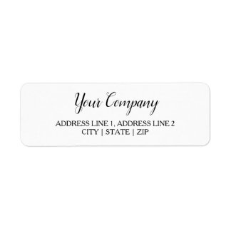 Business Return Address Labels | Classic White