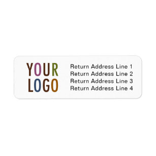 Business Return Address Labels With Company Logo