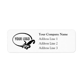 Business Return Address Labels with Custom Logo at Zazzle