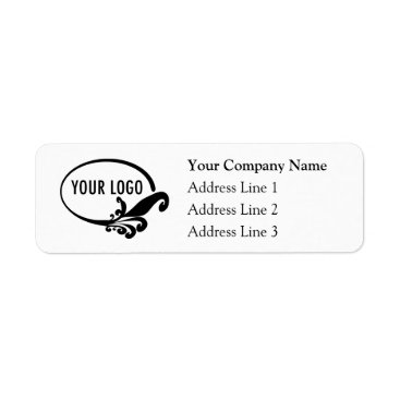 MISOOK Business Return Address Labels with Custom Logo