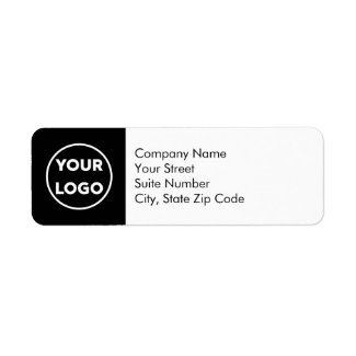 Business Return Address Labels Your Logo on Black
