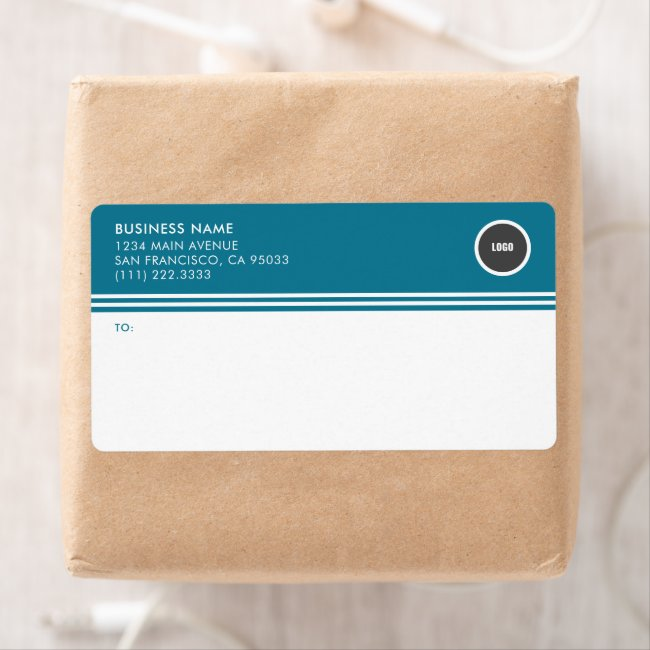 Business Round Logo Mailing Shipping Labels