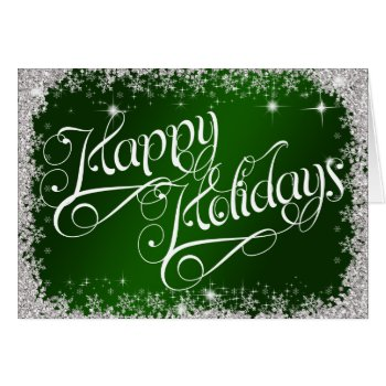 Business Safe Green Happy Holidays PERSONALIZED Card