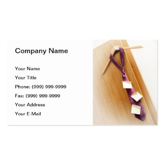 Business schedule business card
