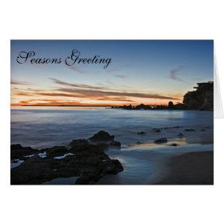 Business Season Greetings Cards - Sunset Beach
