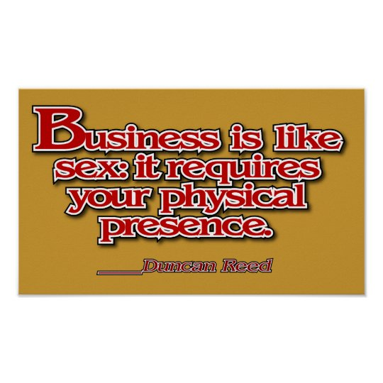 Business sex poster