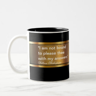 Business Shakespeare Quote Two-Tone Coffee Mug
