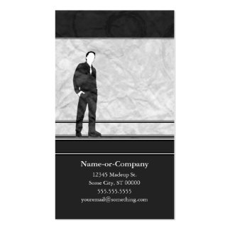 business silhouettes business cards
