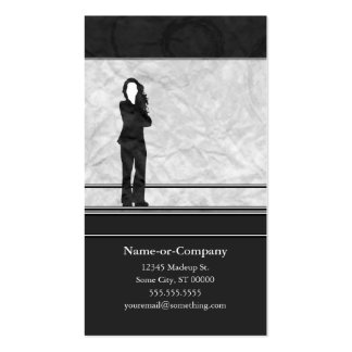 business silhouettes business card