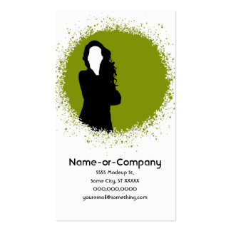 business silhouettes v.2 Double-Sided standard business cards (Pack of 100)